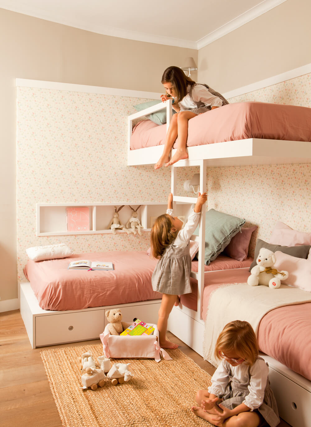 Picture of: How To Make Multiple Bed Layout Work 6 Shared Kids Room Ideas Paul Paula