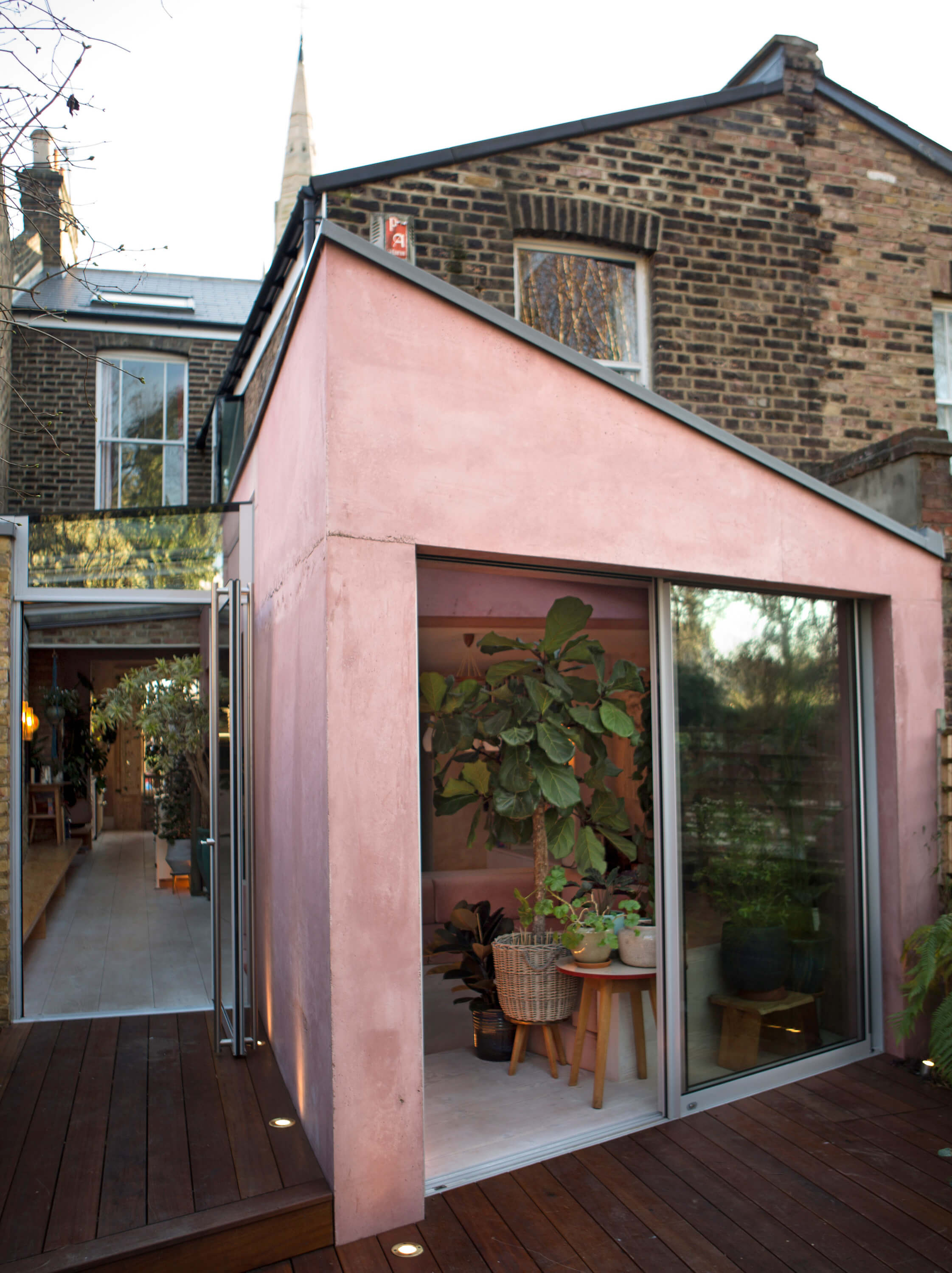 A+Pink+Concrete+Extension+For+A+Victorian+Home+in+London