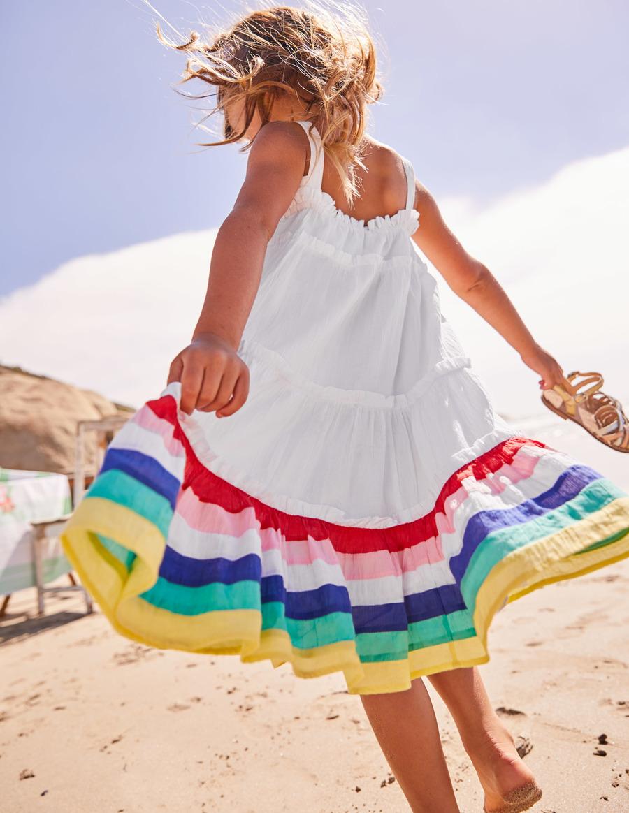 rainbow dress girl