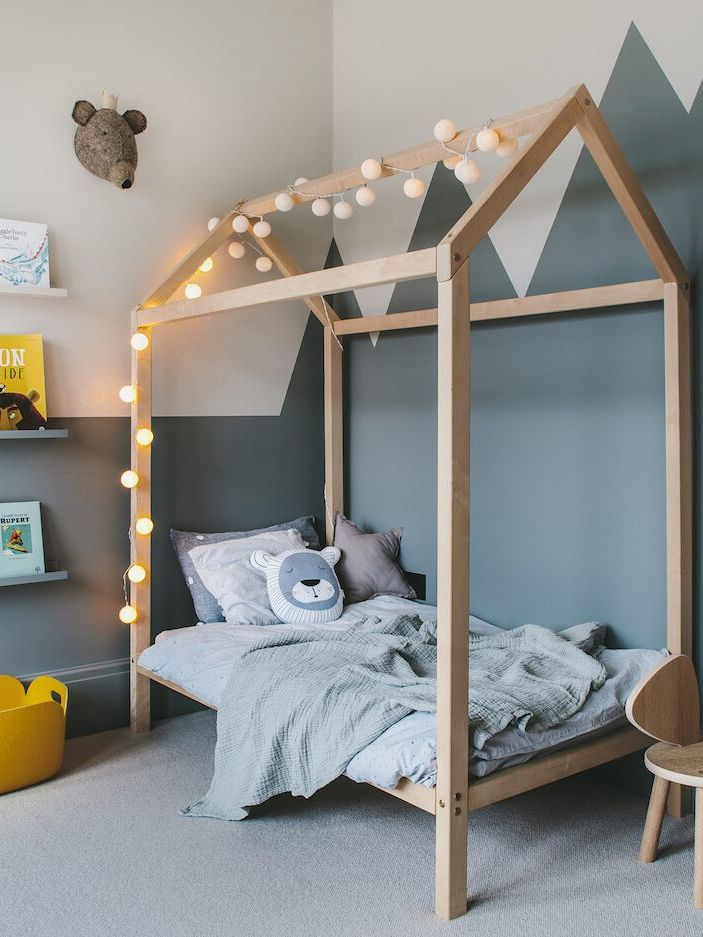 enchanting boy's room in grey and yellow 9