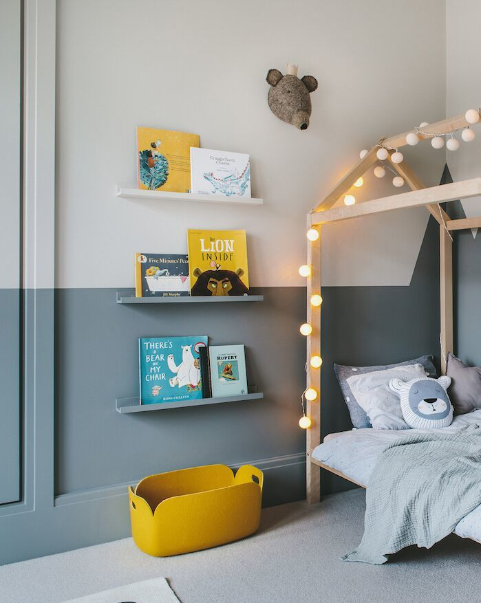 enchanting boy's room in grey and yellow 10