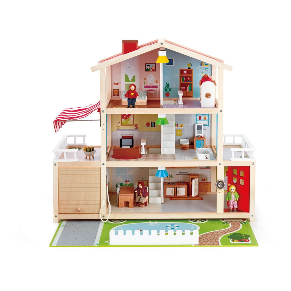 dolls-house with light and accessories