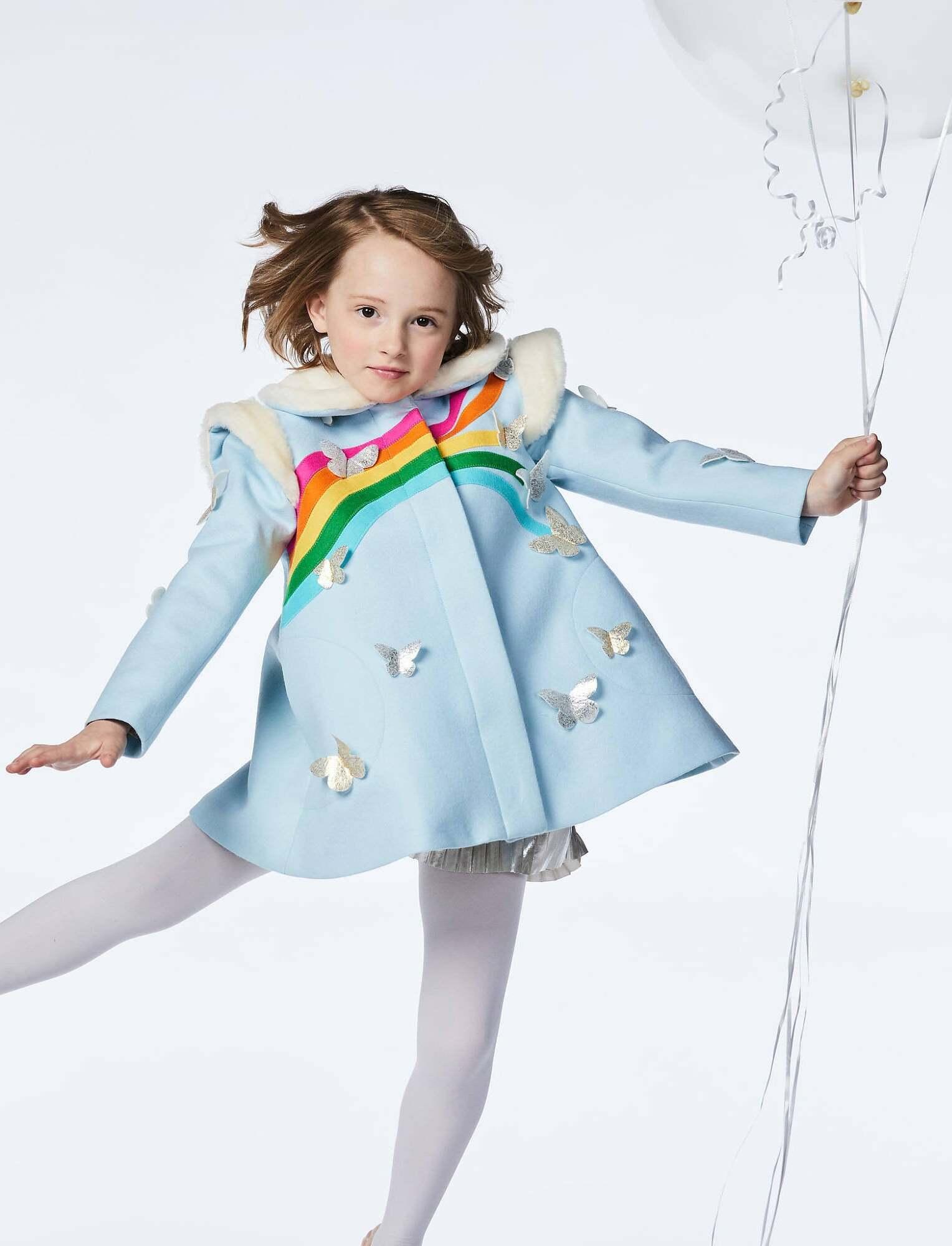 little goodall rainbow butterfly coat