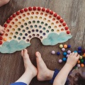 wooden rainbow - sorting tray 2