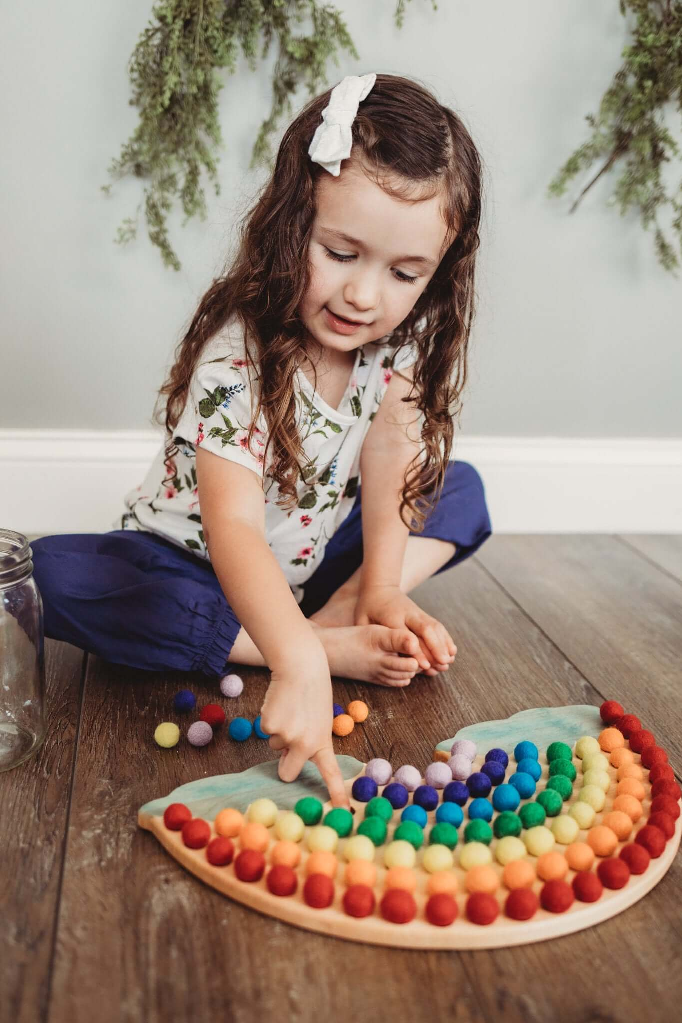 wooden rainbow - sorting tray