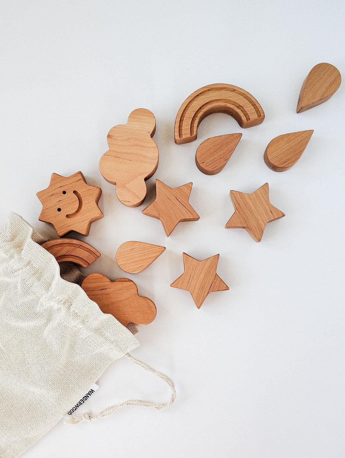 wooden toys stars moon balance