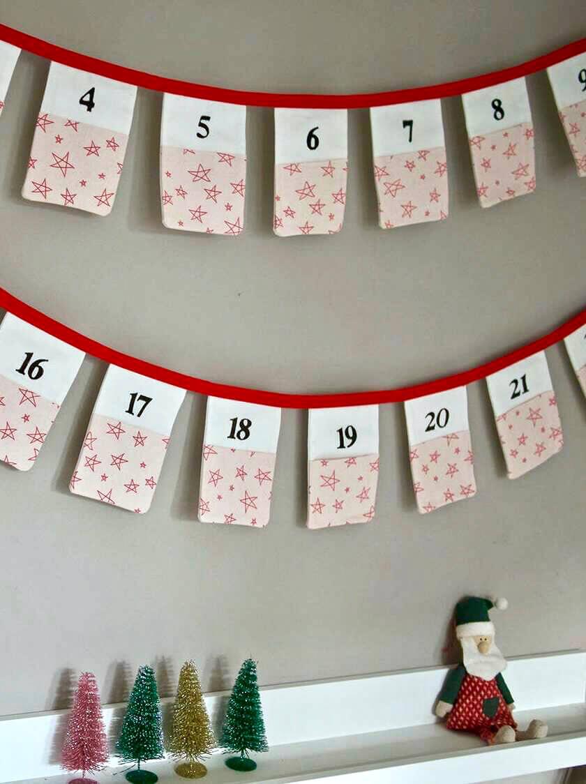 Christmas Advent Calendar Bunting
