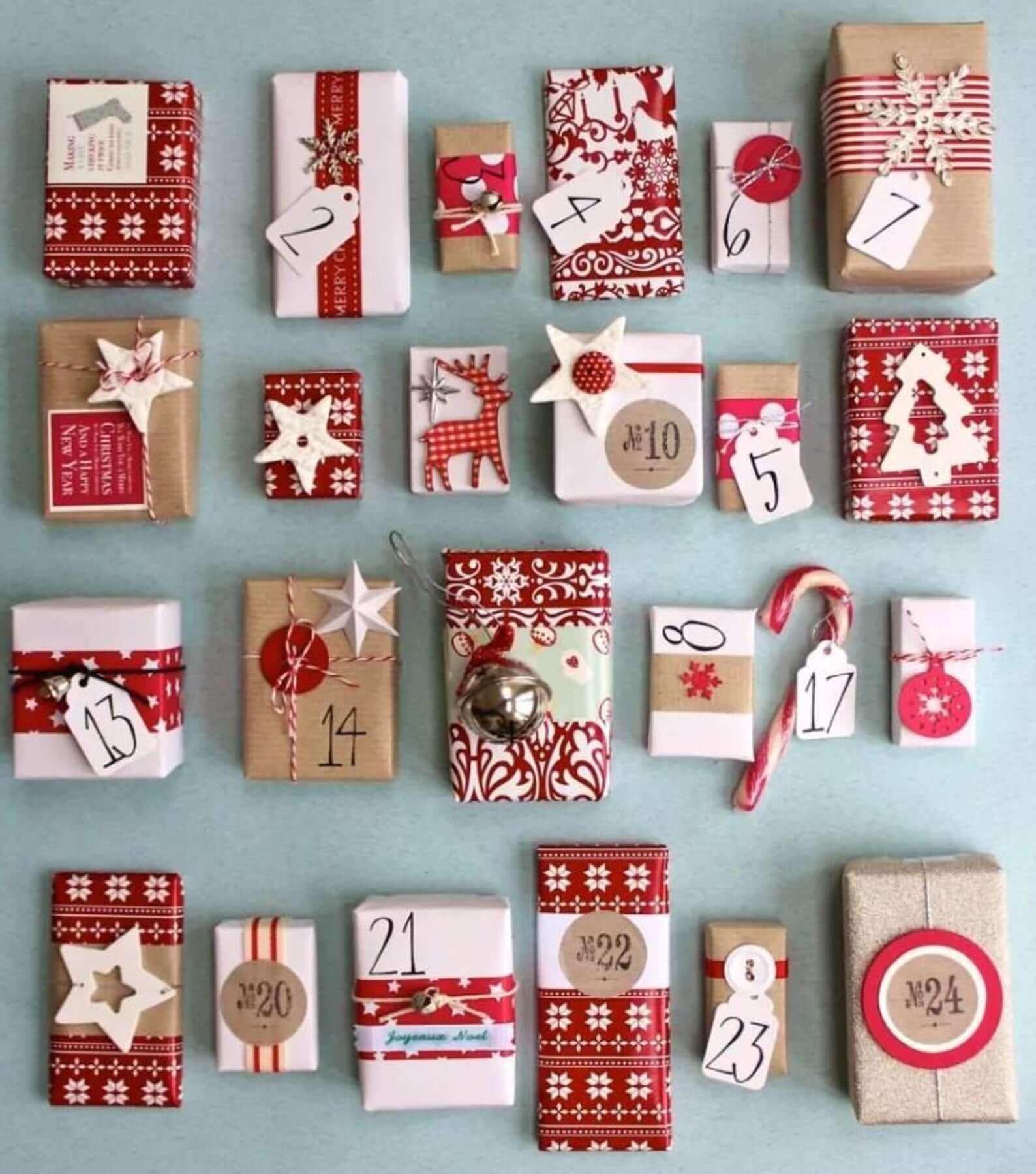 filled advent calendar