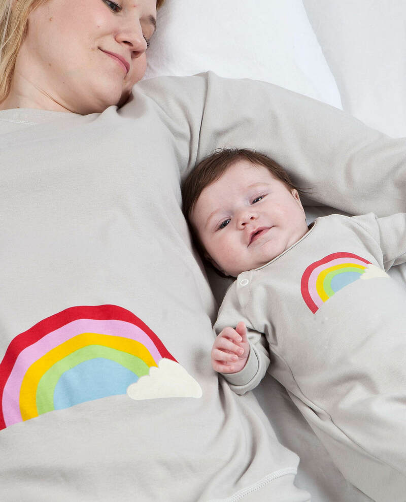 rainbow matching pyjamas