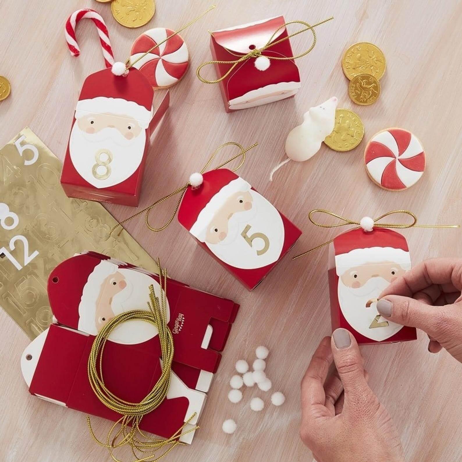 santa advent calendar boxes