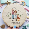 Custom Cross Stitch Family Portrait