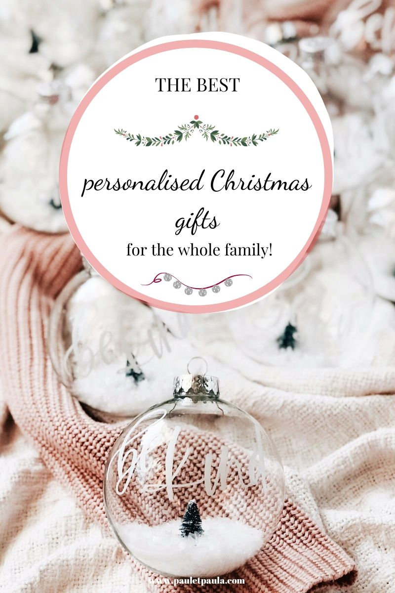 The best personalised Christmas gifts for the whole family!