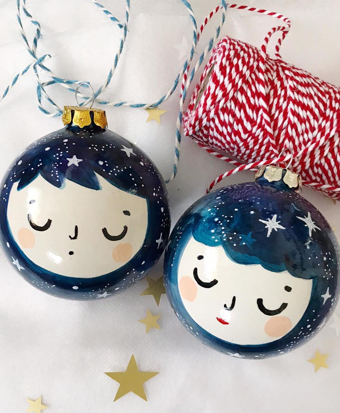 boy girl christmas baubles