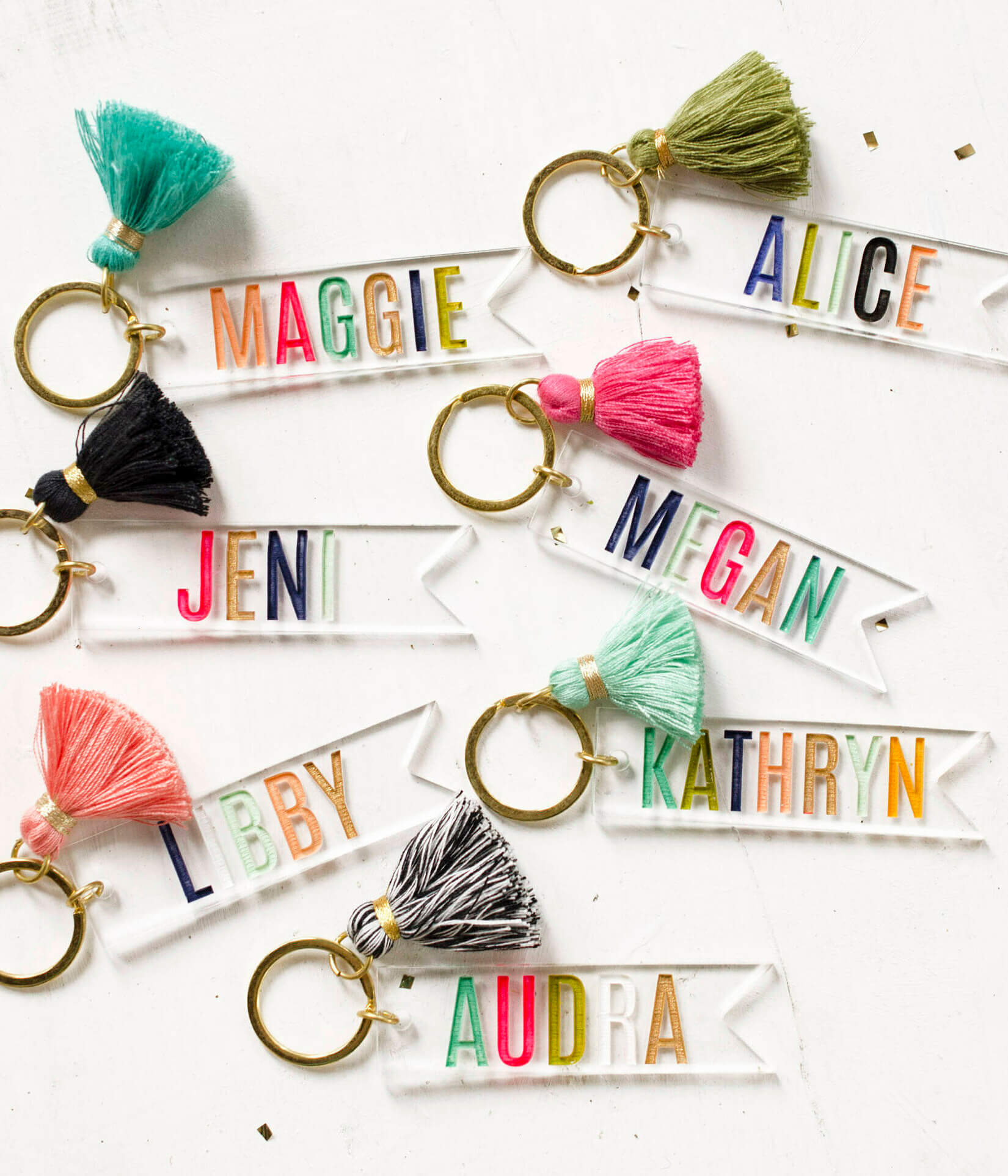 colourful keychain personalised