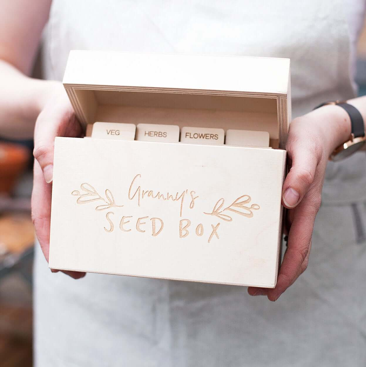custom wooden seed box