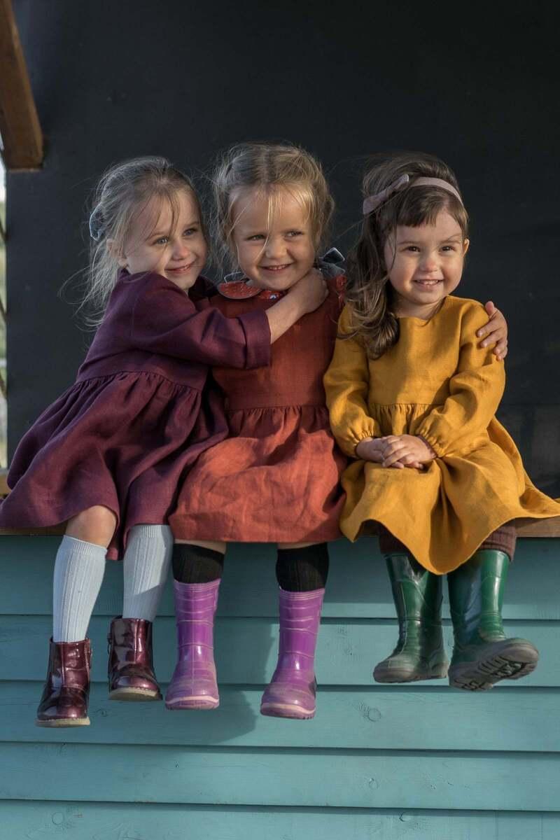 girls linen dress