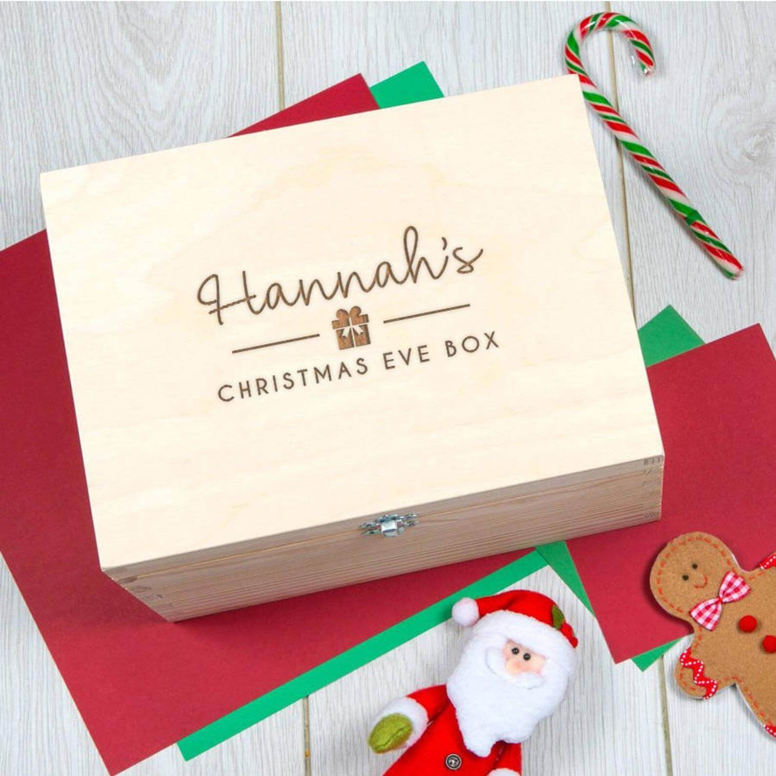 personalised wooden christmas box
