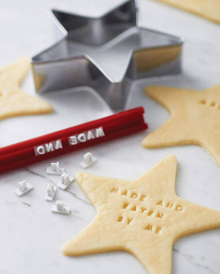stamp your own cookie kit personalised cookie stamper