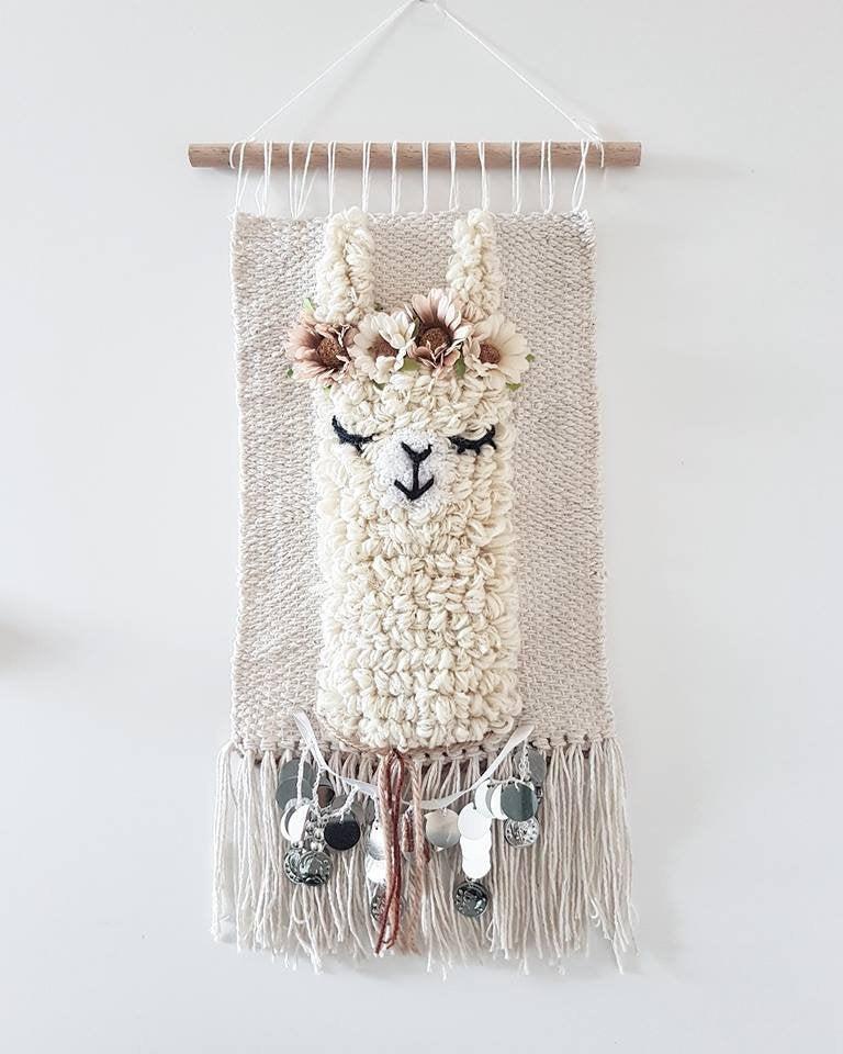 llama wall hanging boho
