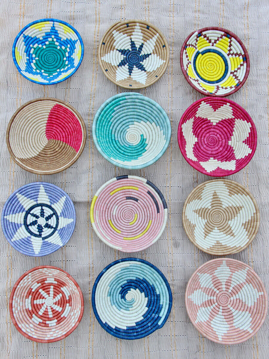 colourful african baskets