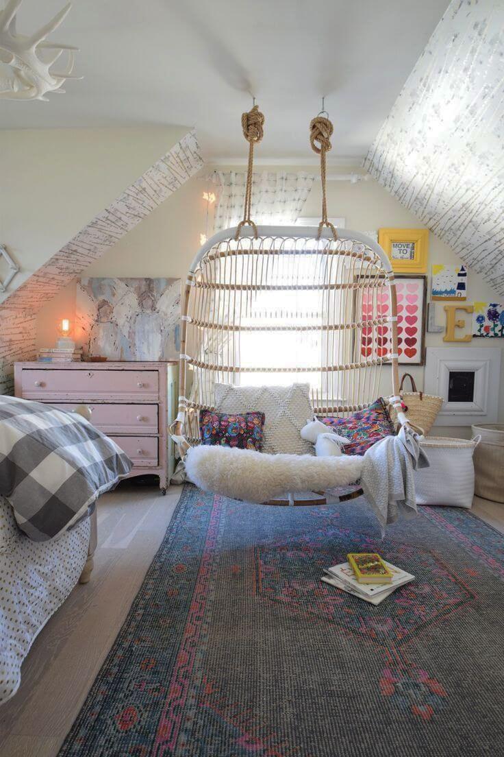 teen room with swing