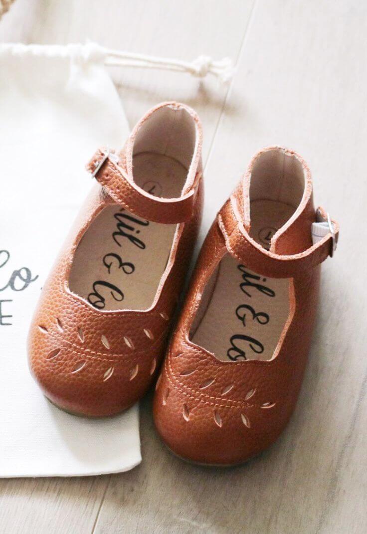 vintage leather shoes kids