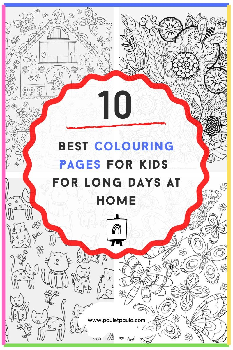 The 10 Best Colouring Pages for Kids for Long Days at home