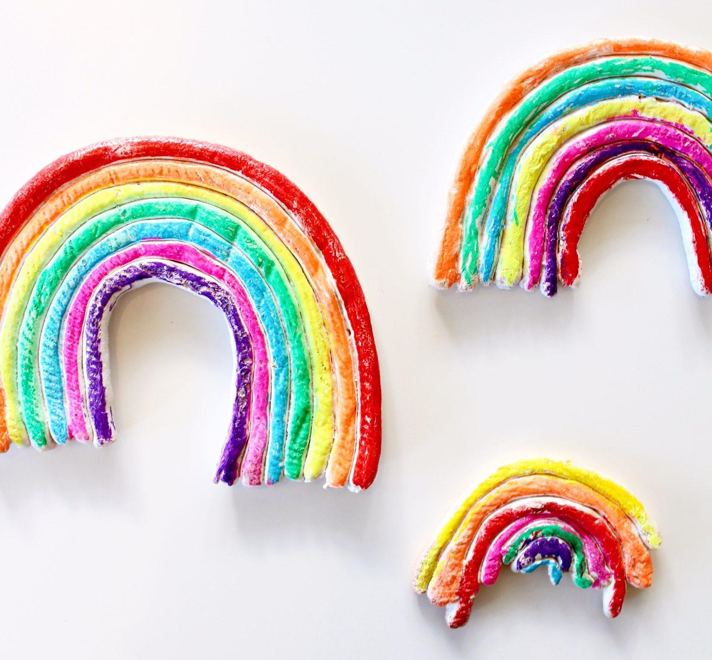salt dough rainbow diy