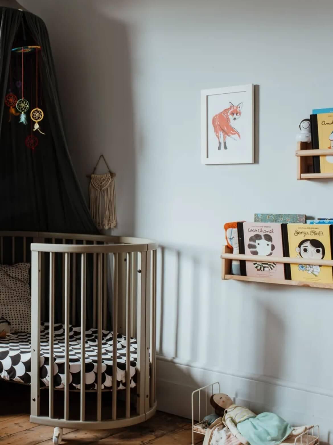 Industrial nursery with warm Scandinavian undertones