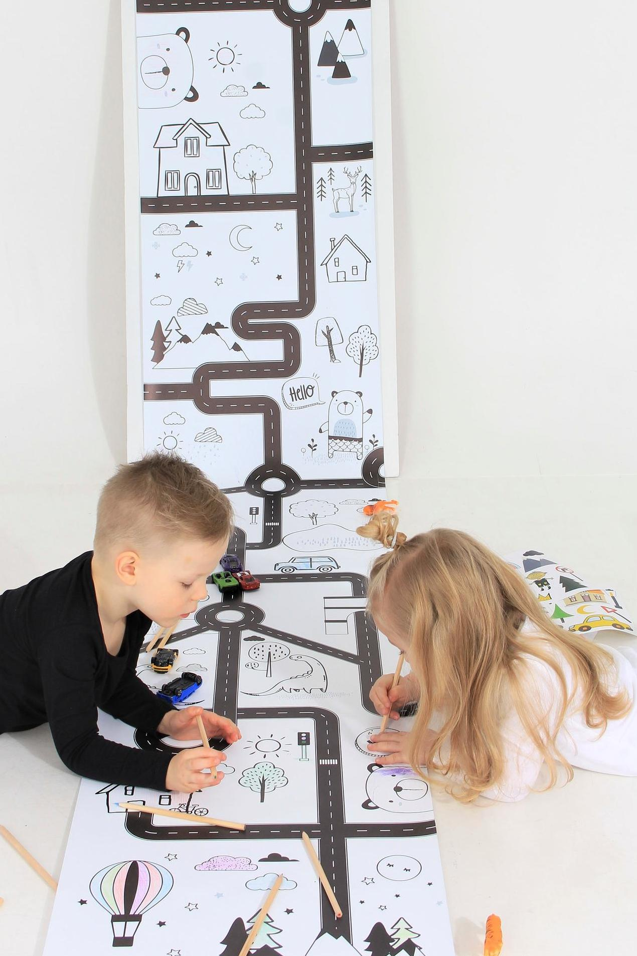 play roll kids colouring roll paper