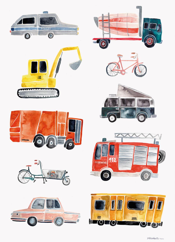 vehicles print kidsvehicles print kids