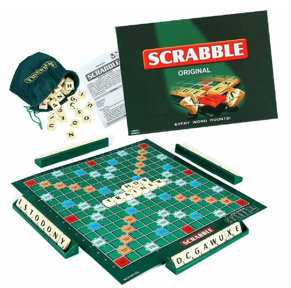 scrabble family board game