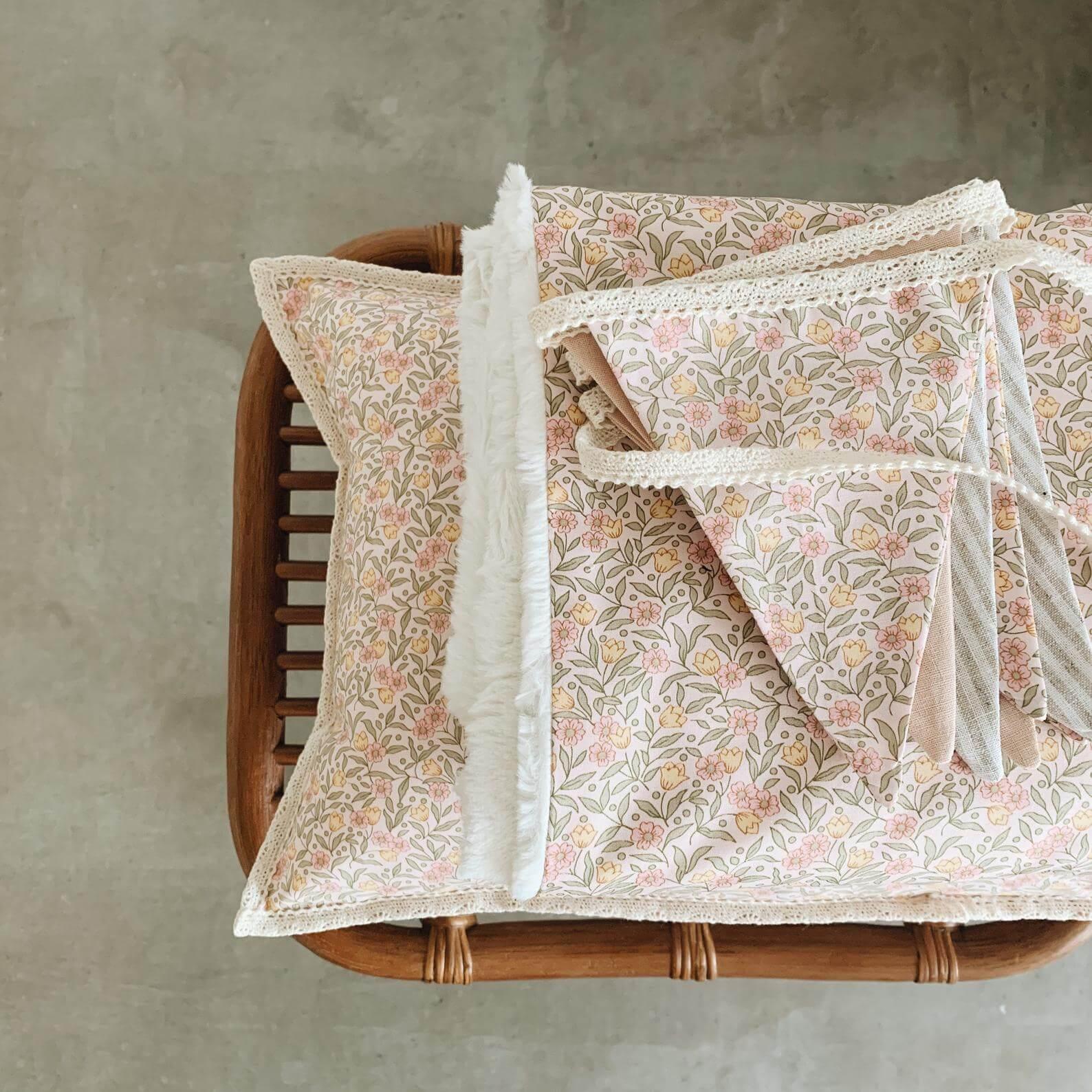 reversible baby blanket flowers