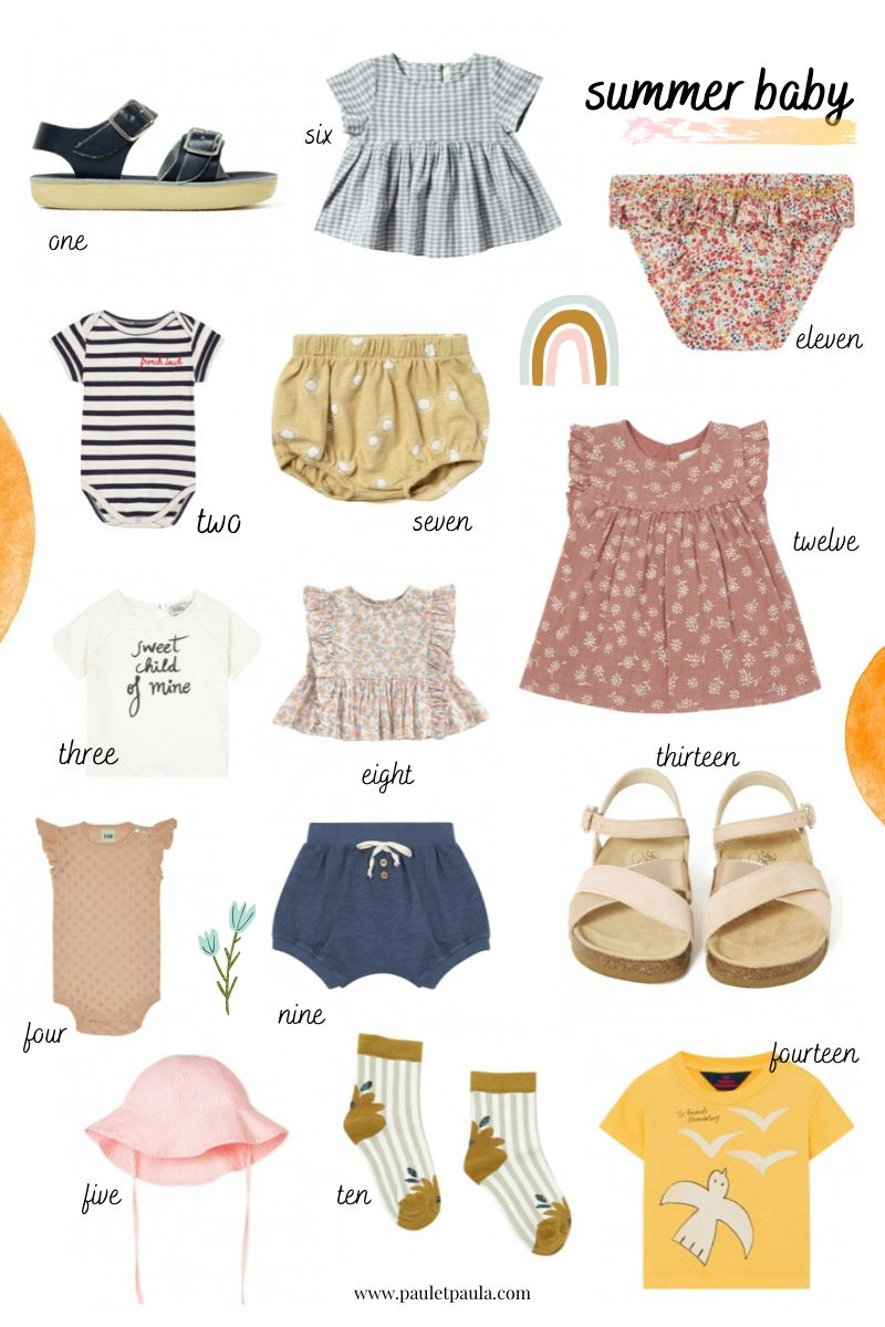 summer clothes baby
