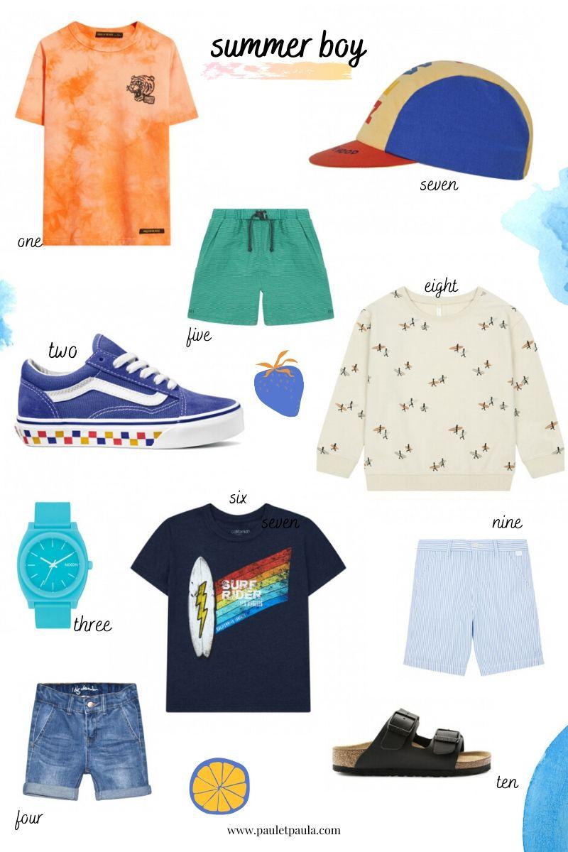 summer clothes boy