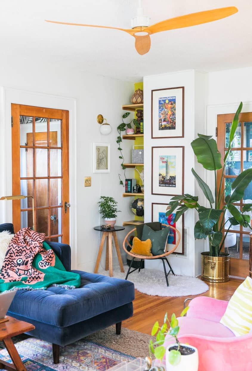 A+Colorful+Bohemian+home