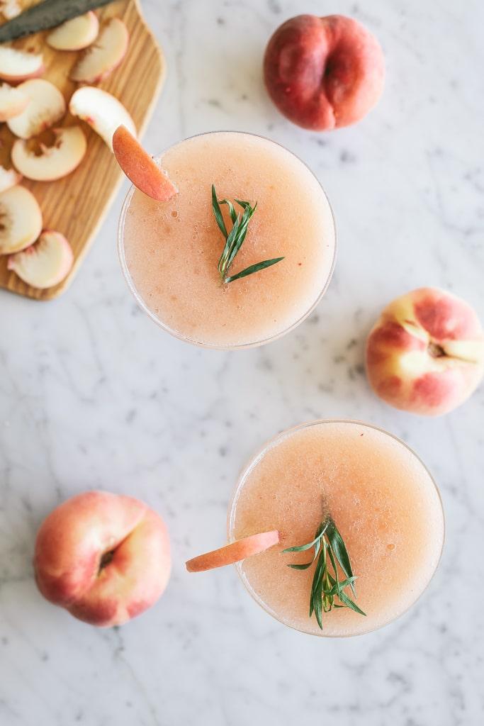 white peach summer drink
