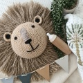 lion crochet animal head nursery