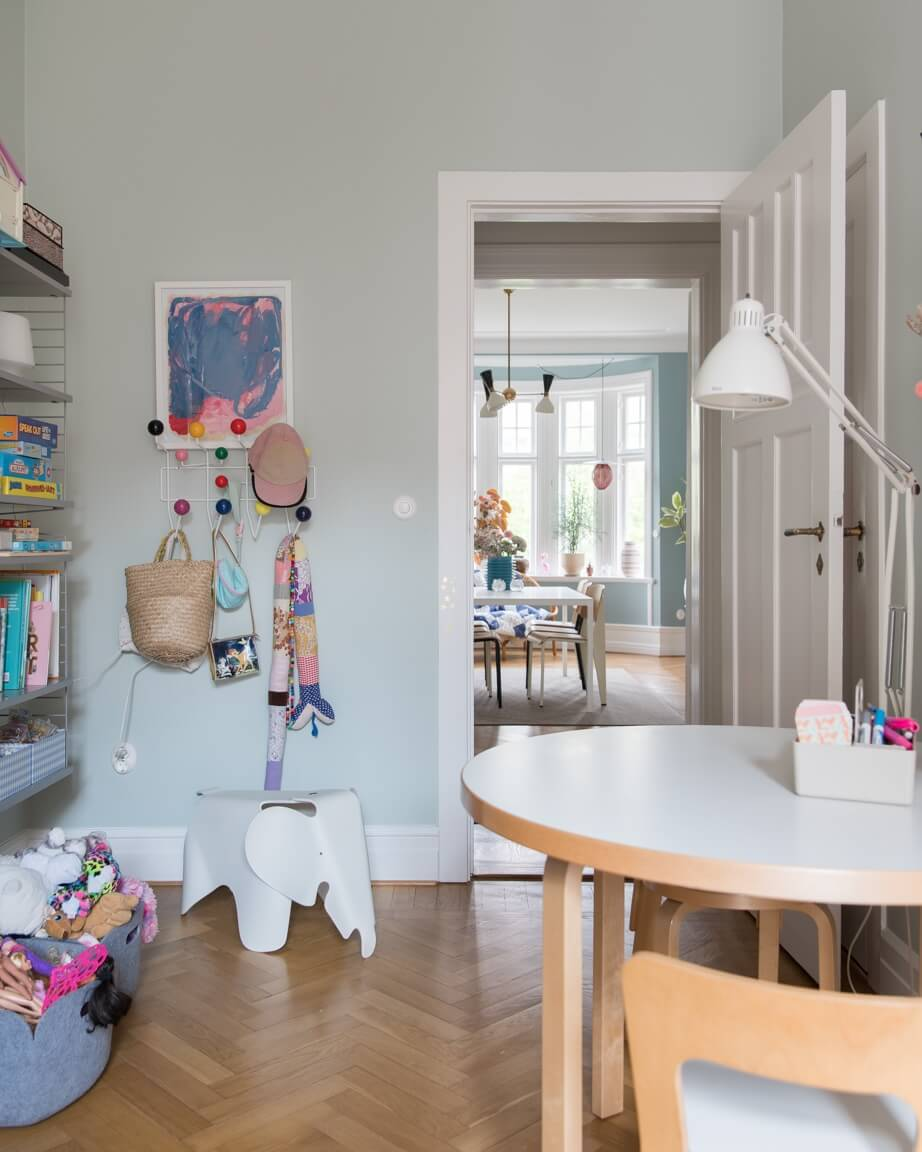 Stunning Malmo family home with hints of colours