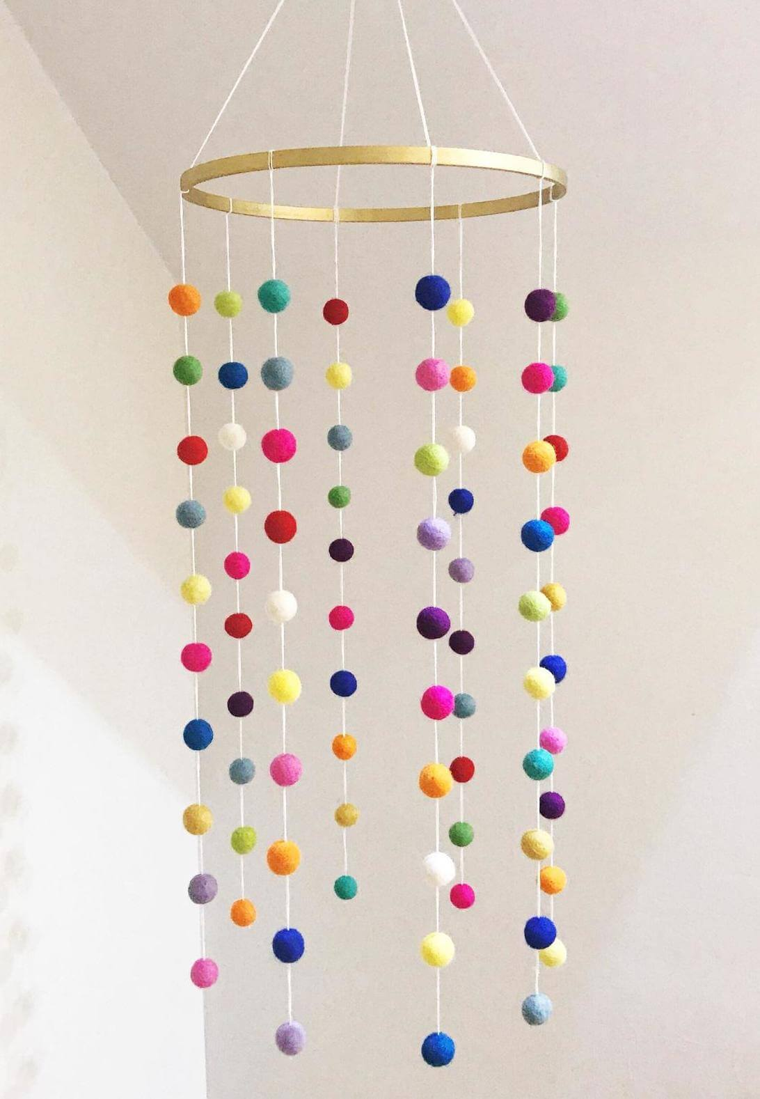 felt ball mobile nursery