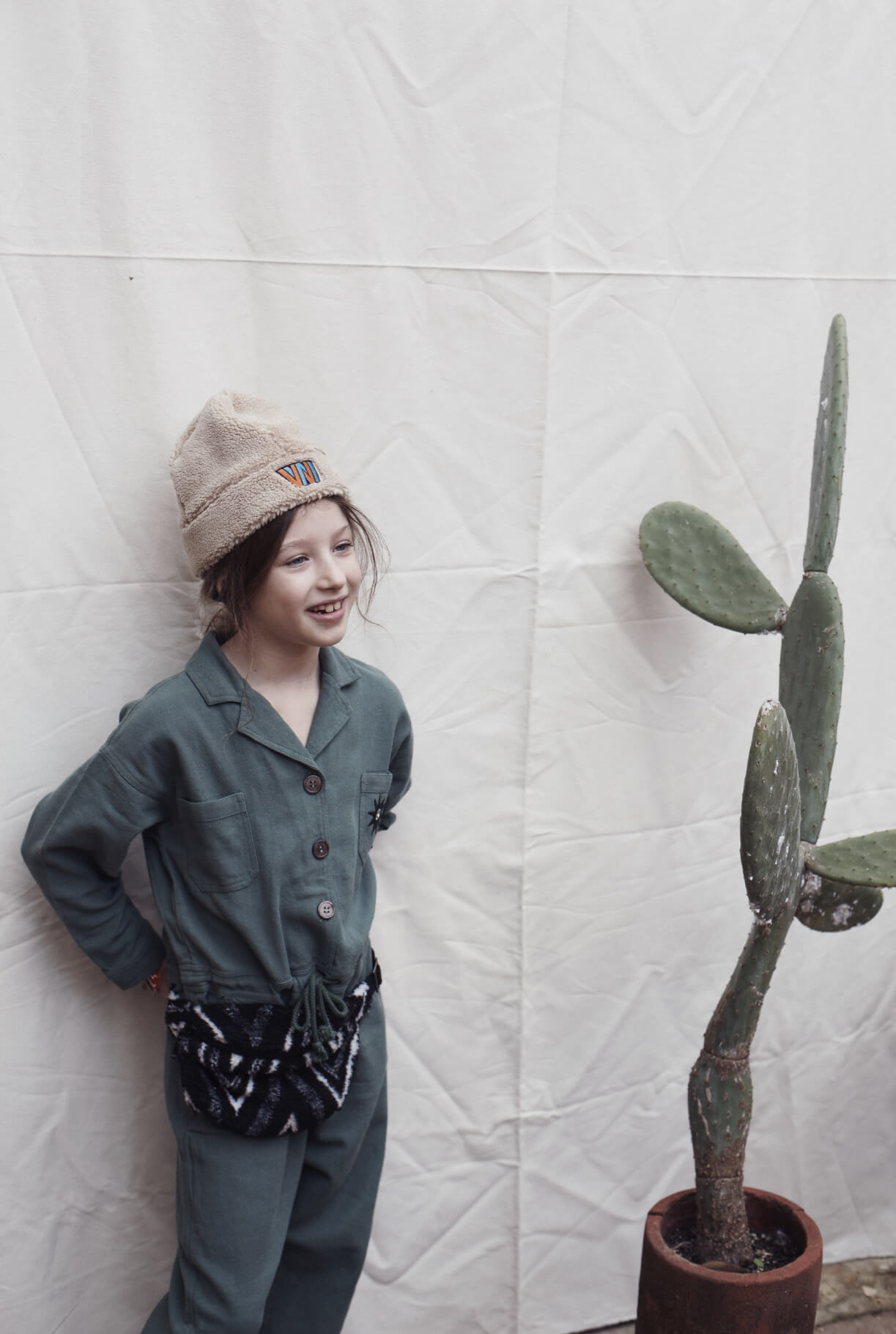 green autumn kids fashion