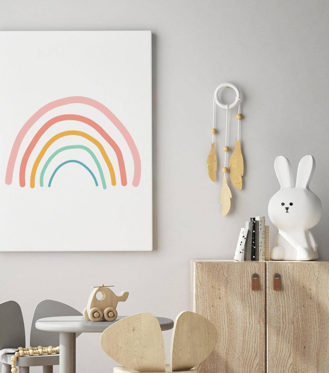 modern rainbow print