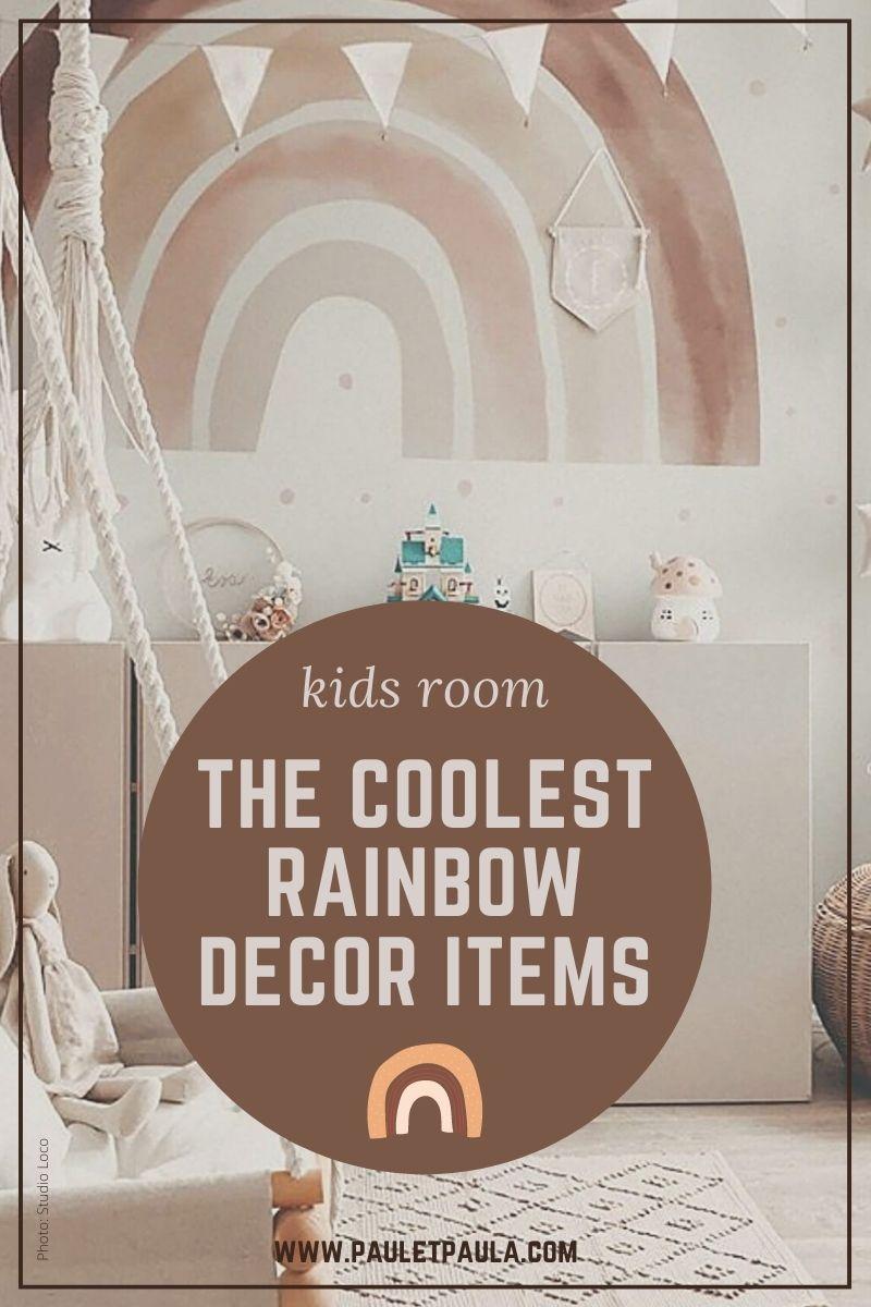 rainbow decor kids room