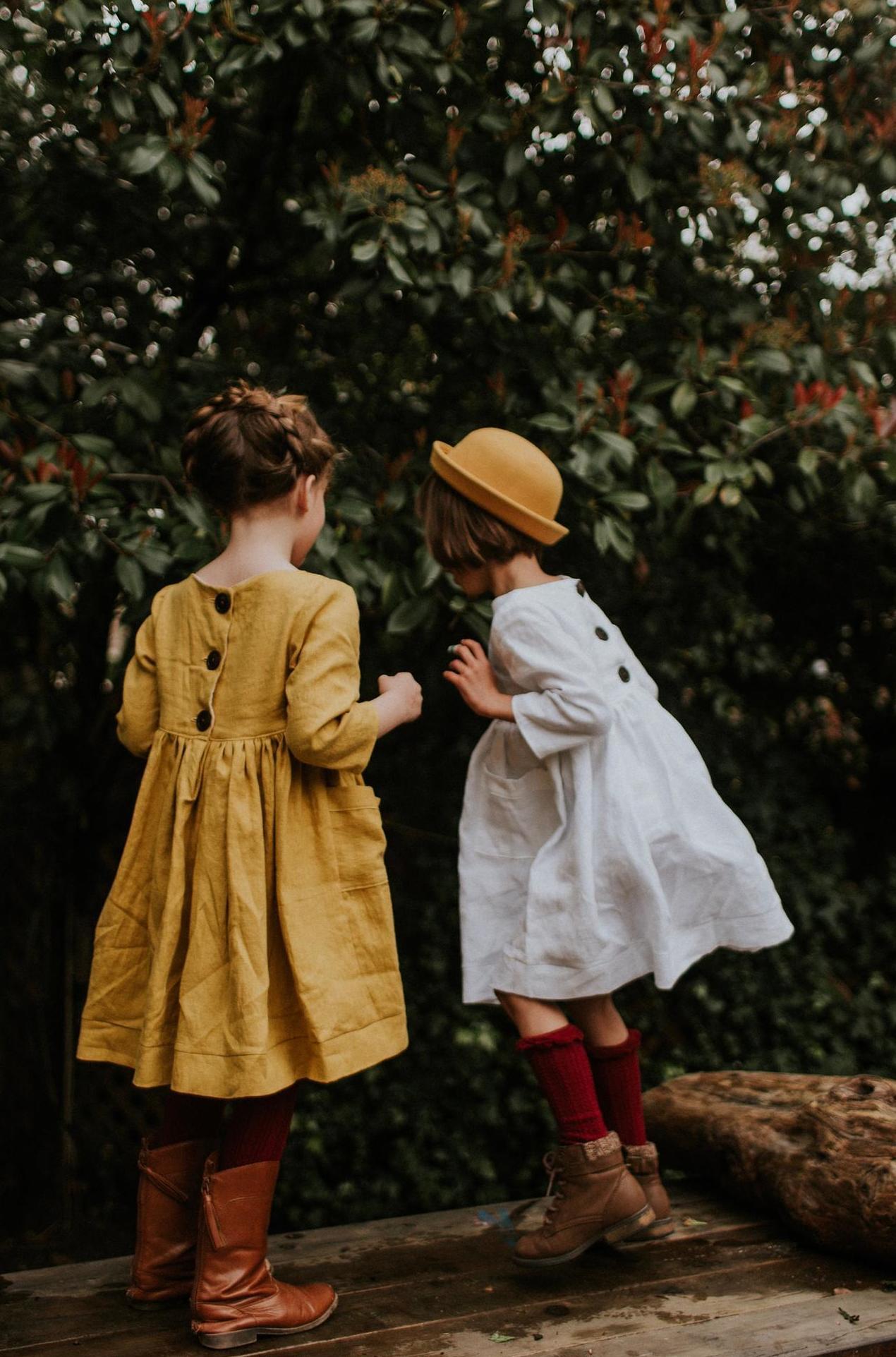 linen dress girl