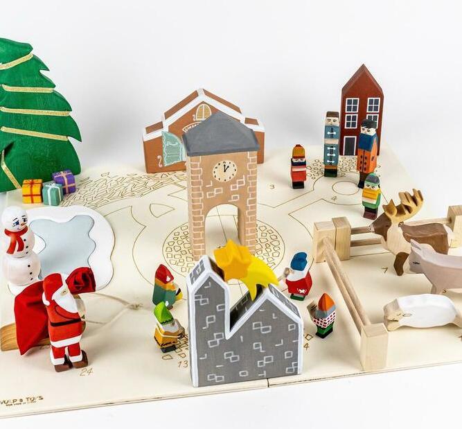 wooden heirloom toy advent calendar