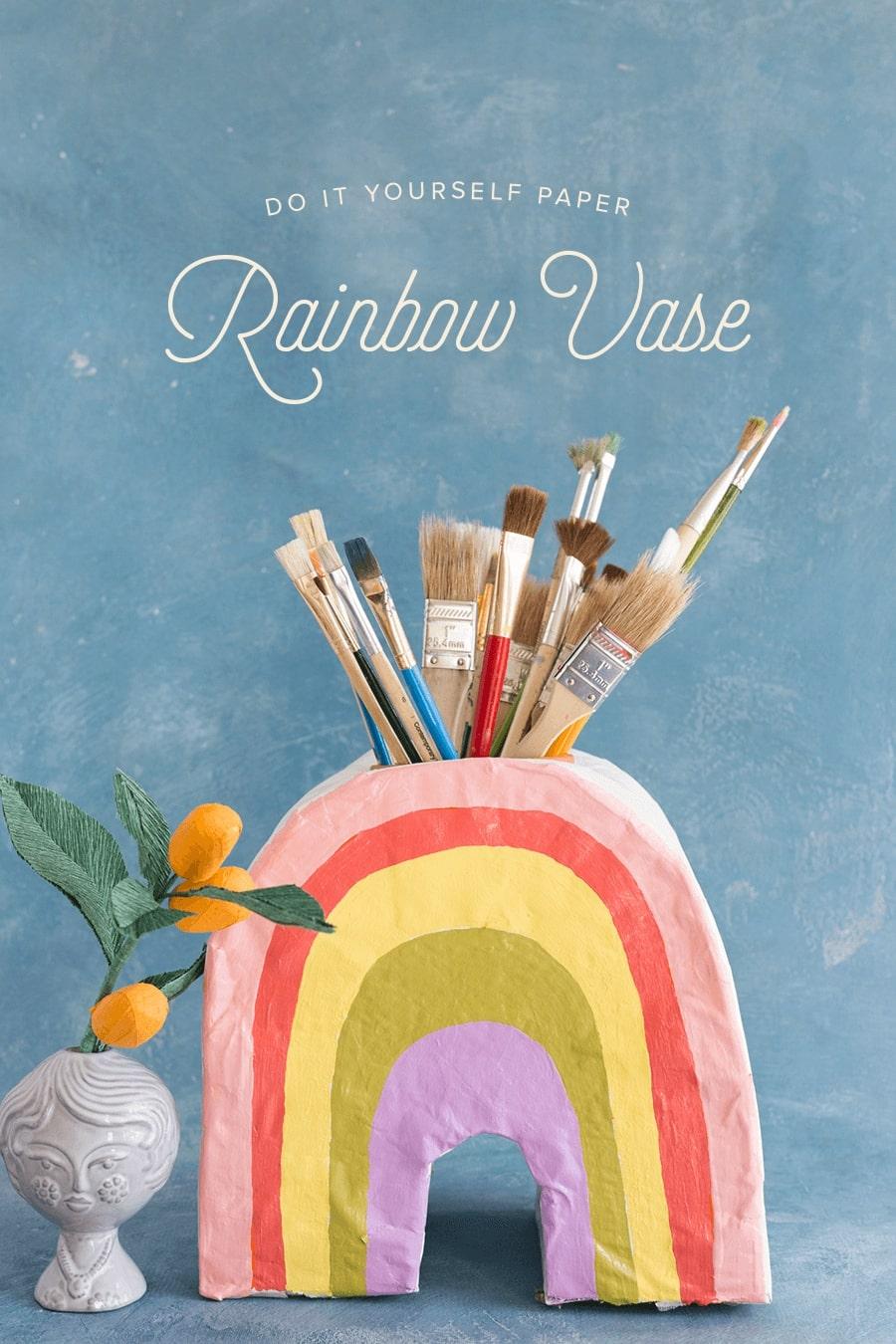 RAINBOW-VASE DIY