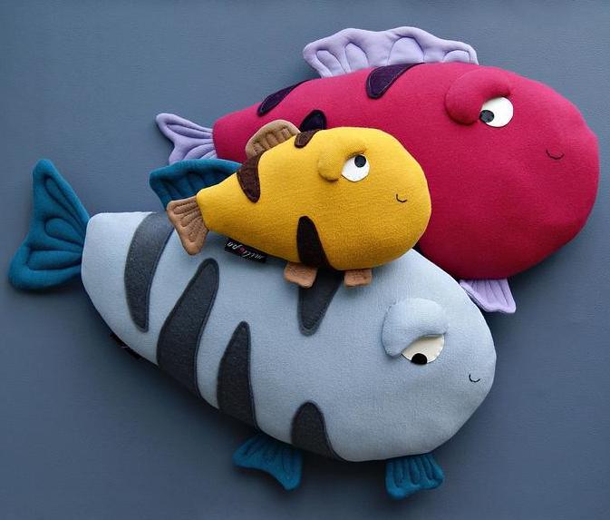 fish stuffed animal handmade