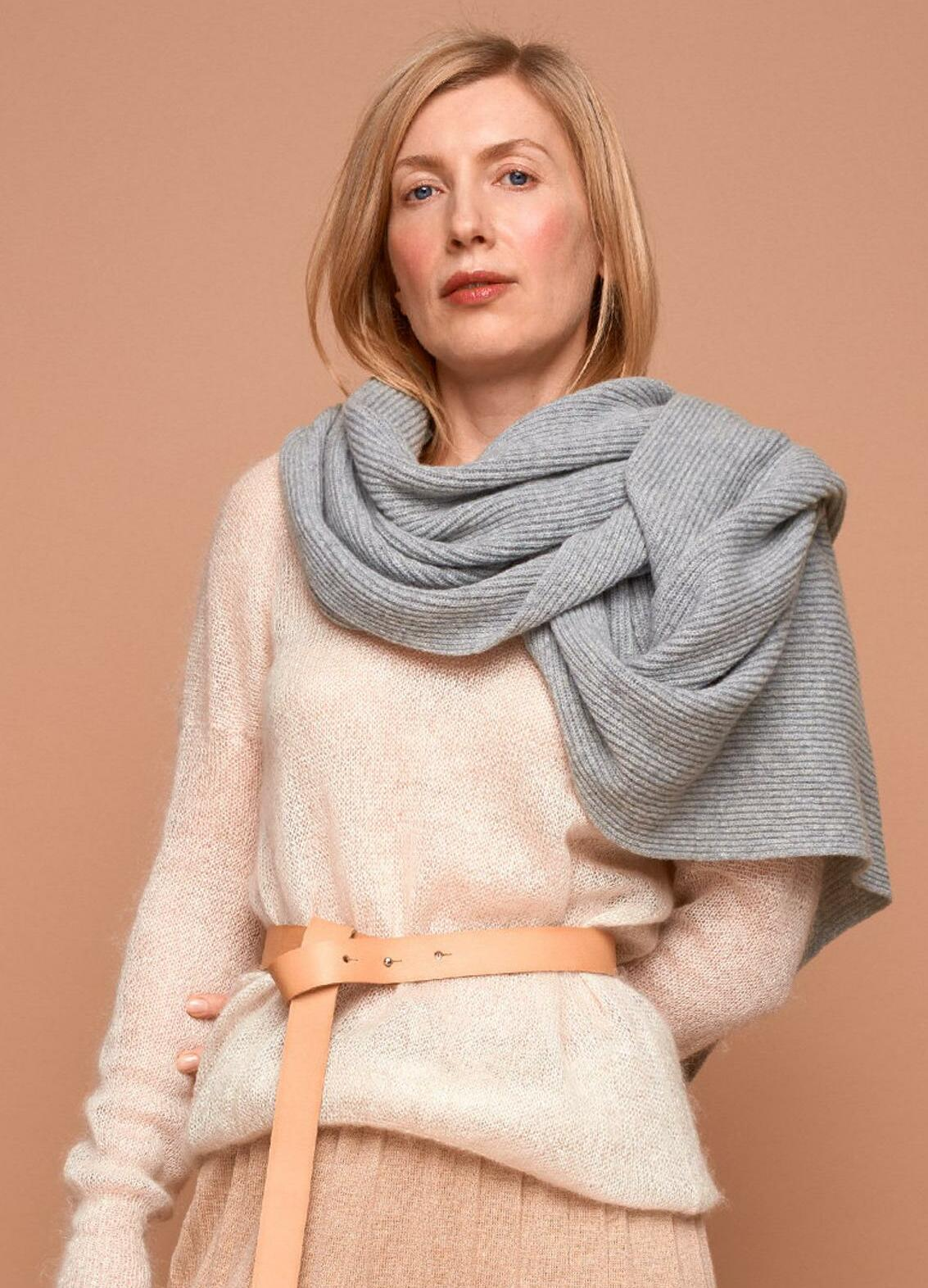 oversize cashmere scarf