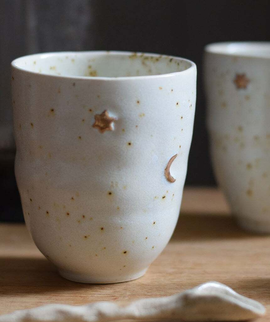 star moon coffee mug