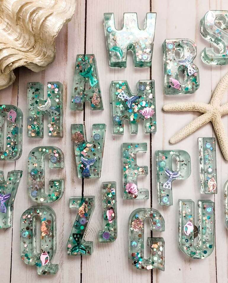 abc Mermaid Resin Play Set
